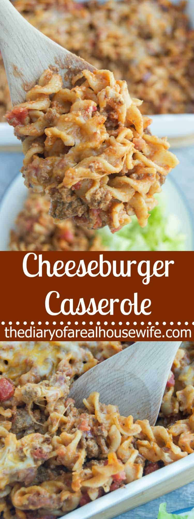 Cheeseburger Casserole by The Diary of a Real Housewife | 24 Casseroles You'll Want to Make This Week!