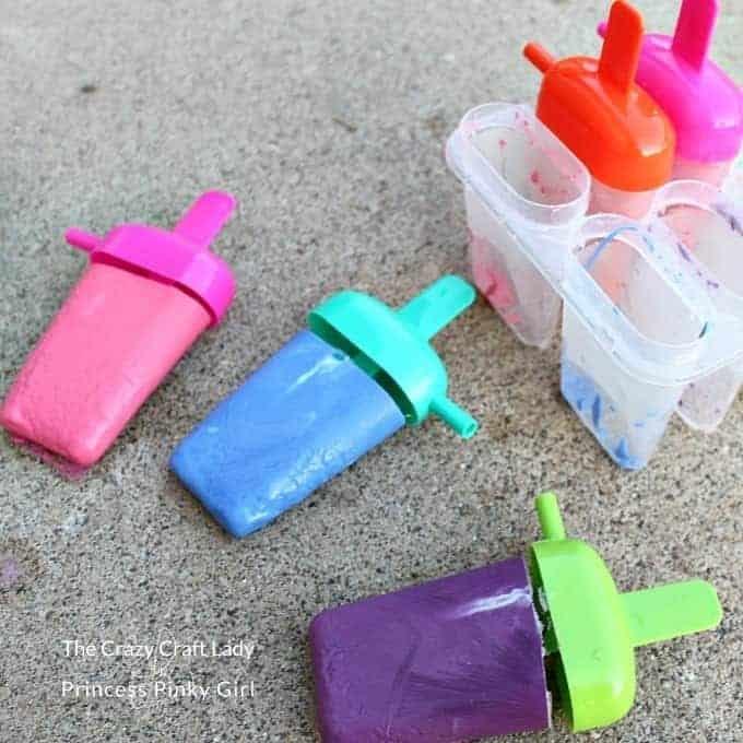 DIY Sidewalk Chalk Popsicles