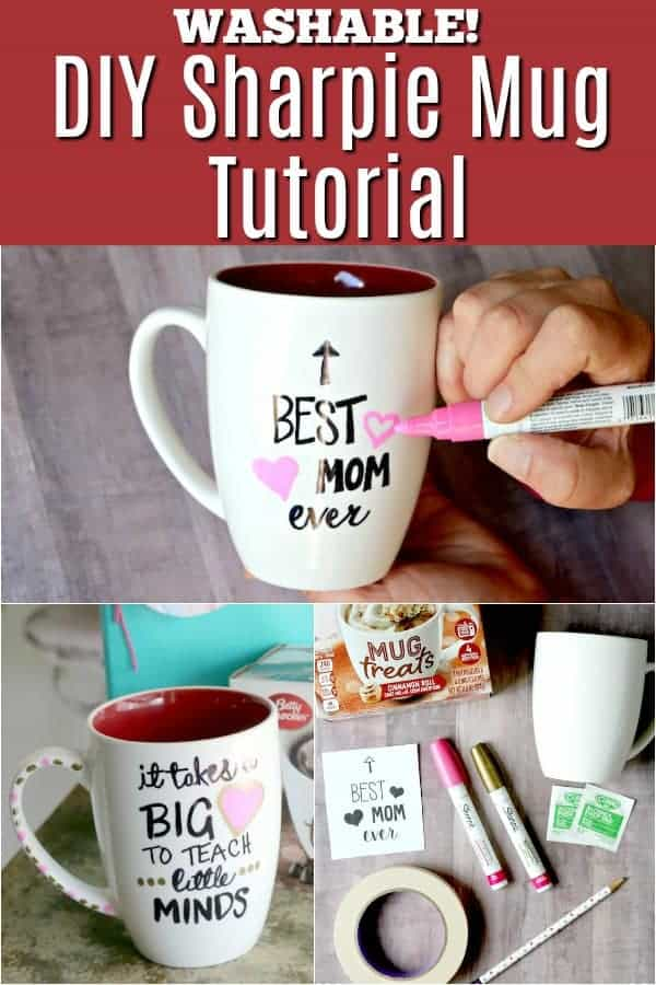 DIY sharpie mug tutorial - great for DIY Mother's Day or Teacher Gift