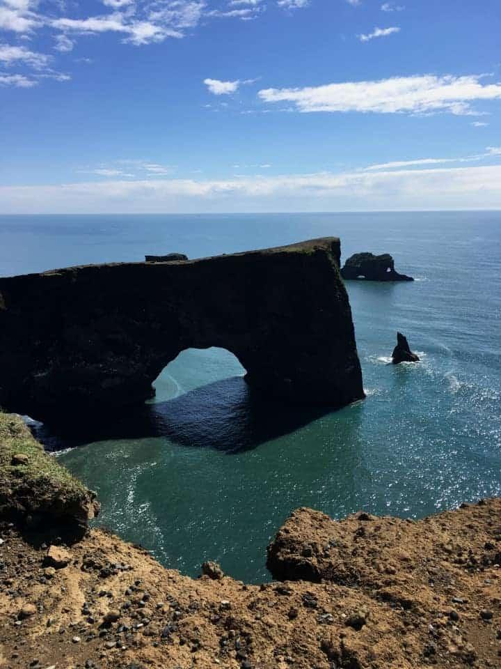 Dyrolaey Stone Arch Iceland