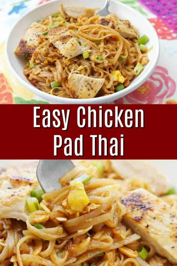Easy Chicken Pad Thai Recipe - Better than carry out