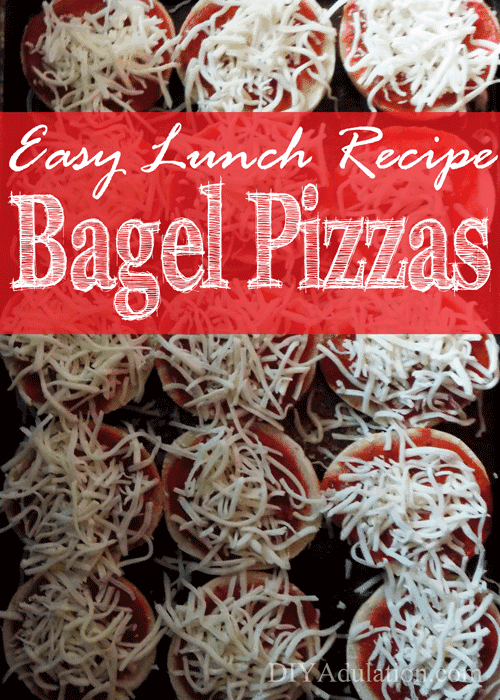 Easy Lunch Freezer Bagel Pizzas by DIY Adulation | Easy and Delicious Make Ahead Meals