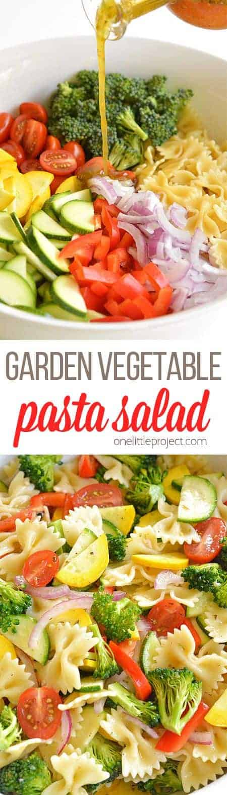 Garden Vegetable Pasta Salad | The best pasta salad recipes for summer!