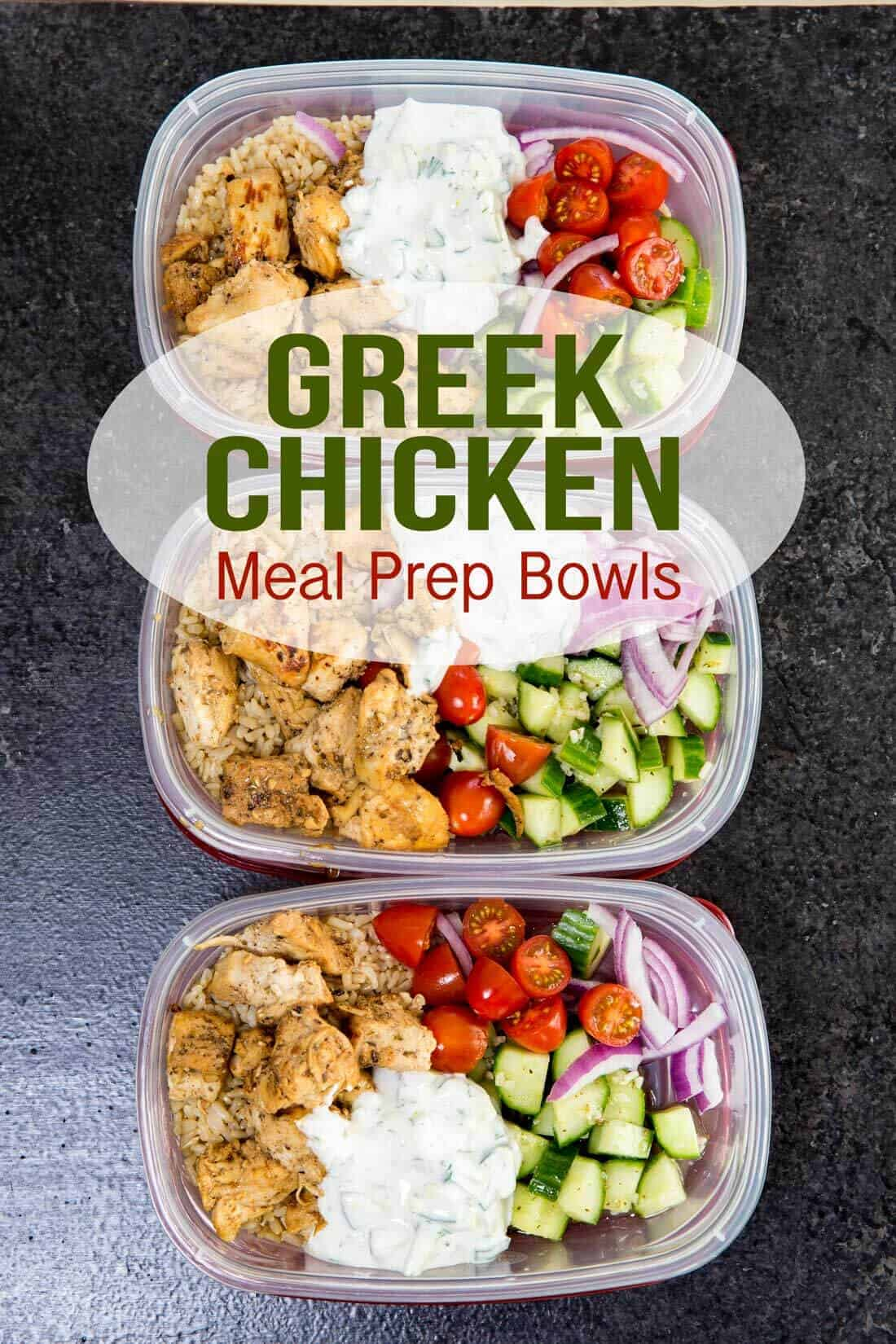 Greek Chicken Meal Prep Bowls by Eazy Peazy Mealz | Easy and Delicious Make Ahead Meals