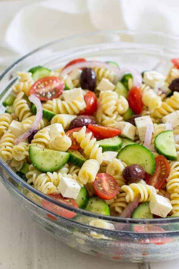 Greek Pasta Salad by Oh Sweet Basil | The absolute best pasta salad recipes for summer!