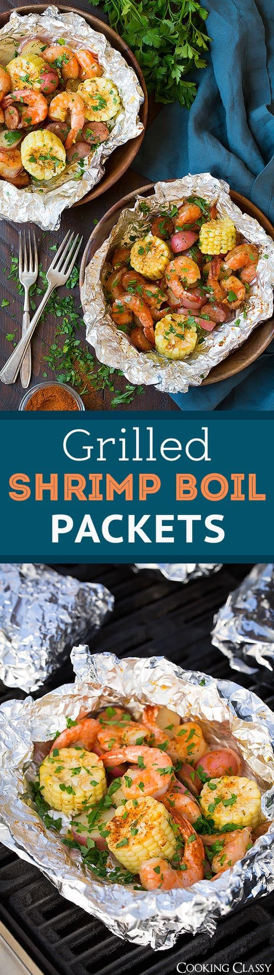Grilled Shrimp Boil Packets by Cooking Classy | Grilling Hacks and Delicious Recipes