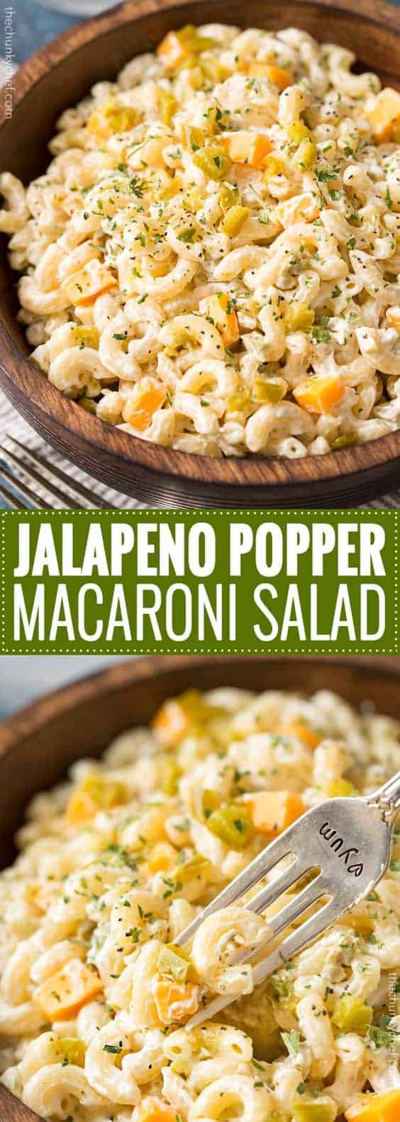 Jalapeno Popper Macaroni Salad by Cucina De Yung | Pasta Salad recipes that you will want to make this summer!