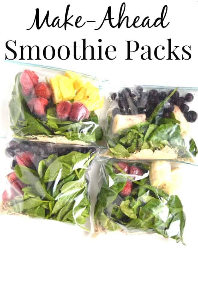 Make Ahead Smoothie Packs by Nutritionist Reviews | Healthy and Delicious Make Ahead Meals