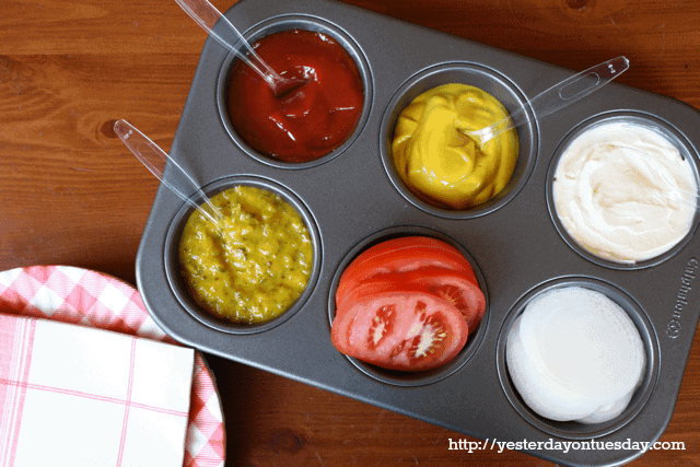 Muffin Tin Condiment Organizer for Grilling by Yesterday on Tuesday | Grilling Hacks and Yummy Grilling Recipes