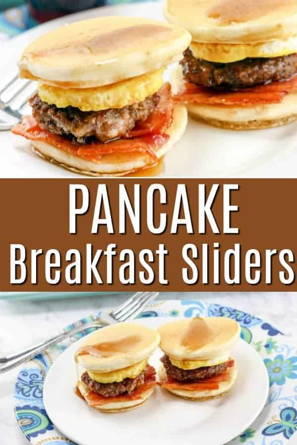 Pancake Breakfast Sliders - pancakes bacon and eggs make the perfect breakfast