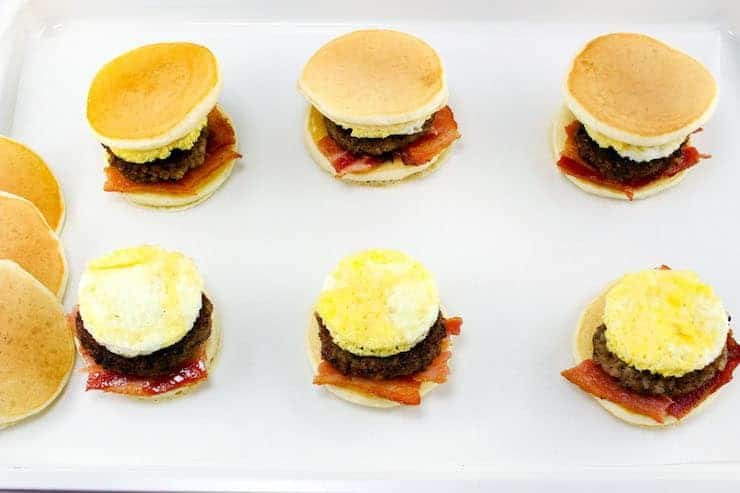 Pancake breakfast sliders in process4