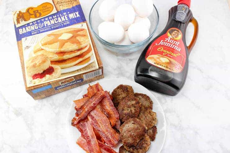 Pancake breakfast sliders ingredients