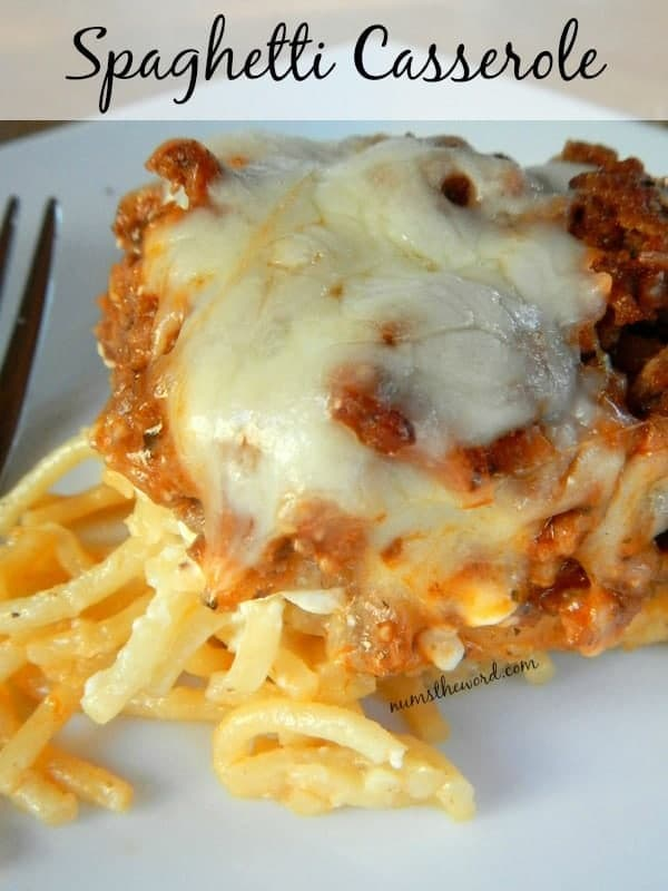 Spaghetti Casserole by Nums the Word | So Easy and So Delicious Make Ahead Meals