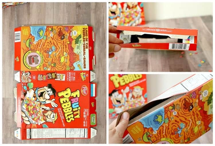 Empty and open the cereal box