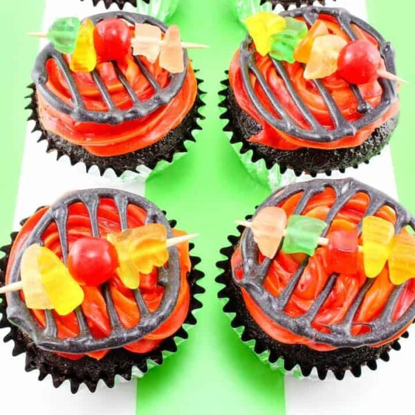 BBQ Grill Cupcakes square