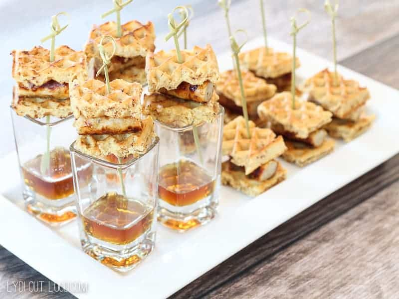 Bite Size Chicken and Waffles Appetizer by Lydi Out Loud | The BEST and Easiest Entertaining Recipes around!