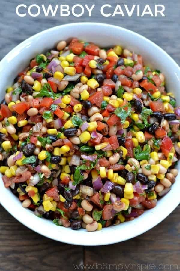 Cowboy Caviar by To Simply Inspire | Entertaining recipes that everyone will love!