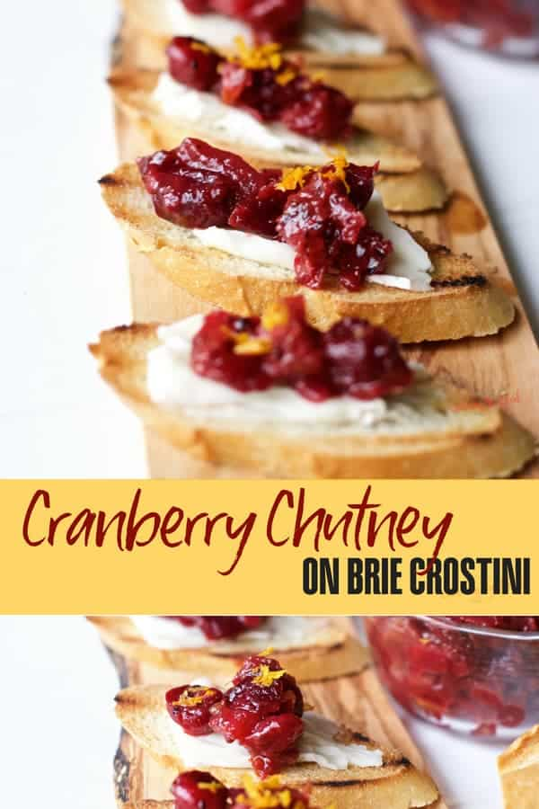 Cranberry Chutney Brie Crostini by Savoring the Good | Entertaining Recipes that are so simple and just amazing!