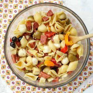 The EASIEST Antipasto Pasta Salad Recipe