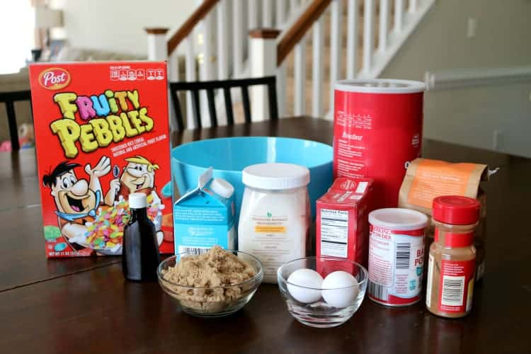 Ingredients for breakfast muffins