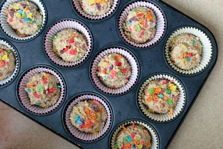 Bake breakfast muffins in a muffin tin