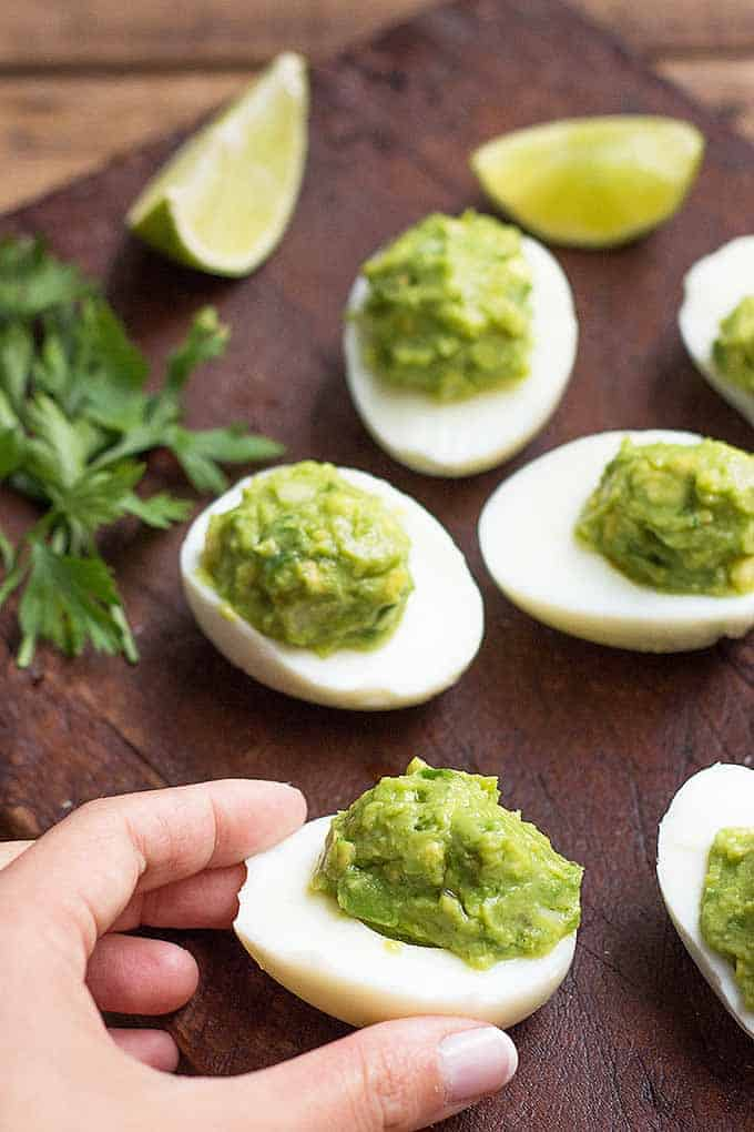 Guacamole Deviled Eggs by Foodal | Entertaining recipes that you will love!