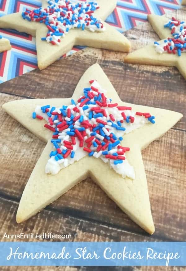 Homemade Star Cookies by Anns Entitled Life | 4th of July Dessert Recipes for Celebrating!