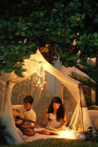 Outdoor Play Tent | Dreamy Outdoor Spaces via Flickr