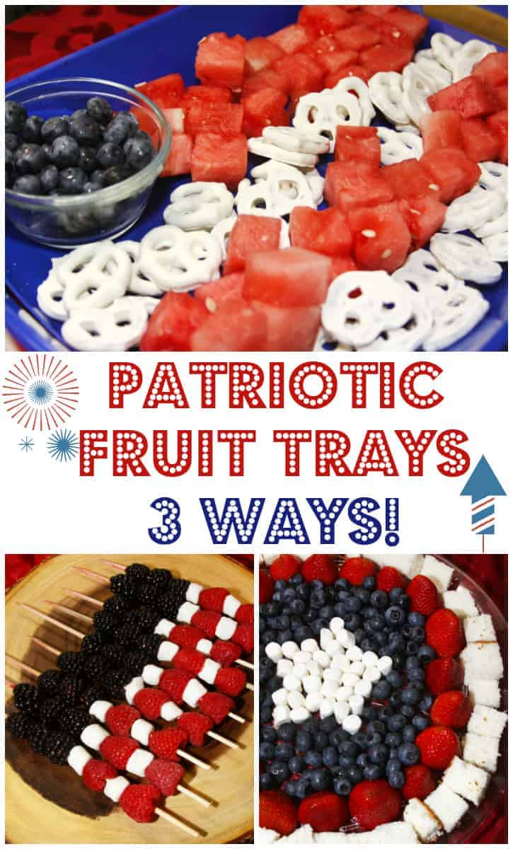 Patriotic Fruit Trays by For the Love of Food | Red White and Blue Dessert Recipe Ideas!