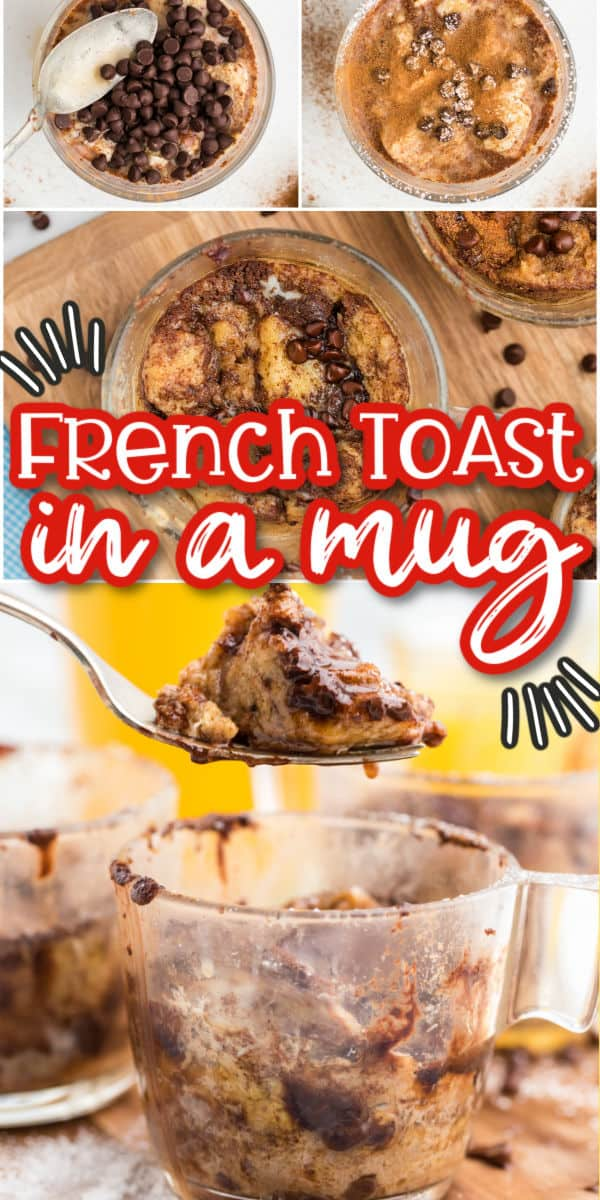 French Toast in a Mug pinterest image