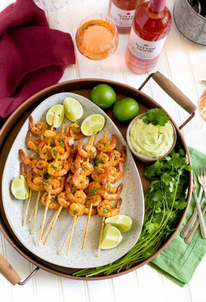 Spicy Grilled Lime Shrimp by Confetti and Bliss | Get great entertaining recipes to use at your next get together!