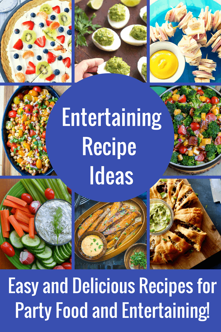 These entertaining recipes are SO good and SO easy to make! It doesn't matter if you are cooking for a crowd of 10 or 50, we are always looking for new and easy party food recipes! Appetizer, finger food, main dishes and desserts...we have them all! These Party Food Ideas will be sure to please a crowd!