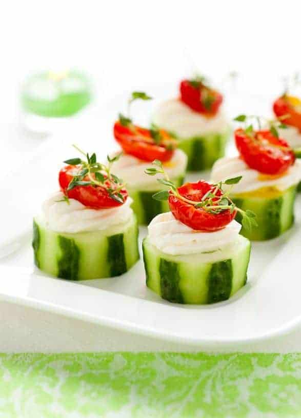 Easy Cucumber Appetizer by Blessed Beyond Crazy | The Best Gluten Free Recipes.
