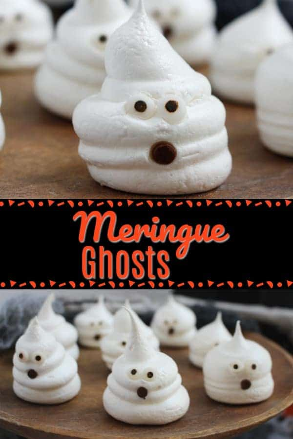 Easy Halloween Meringue Ghosts