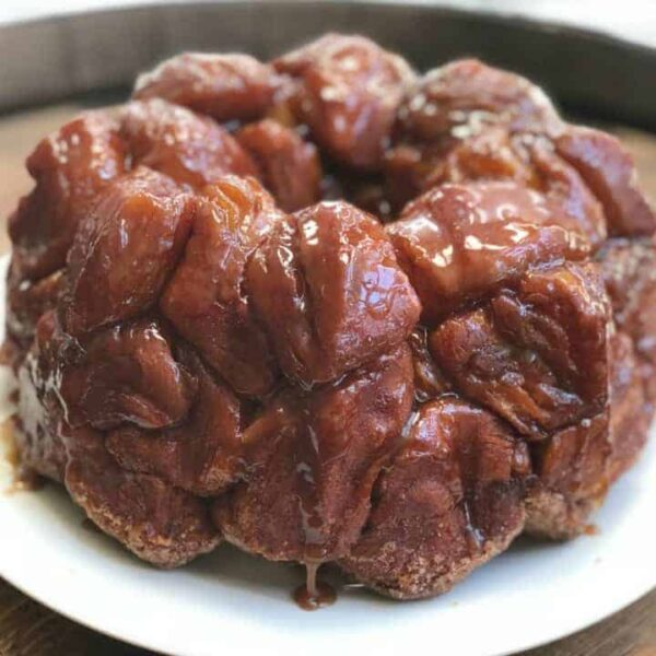 Easy Monkey Bread Recipe with sauce square