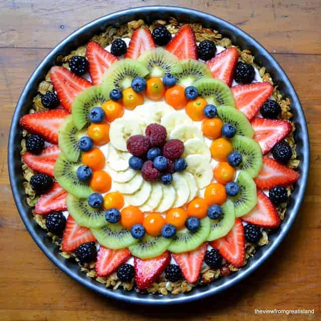 Gluten Free Breakfast Fruit Tart by The View from Great Island | Delicious gluten-free recipes for every meal!