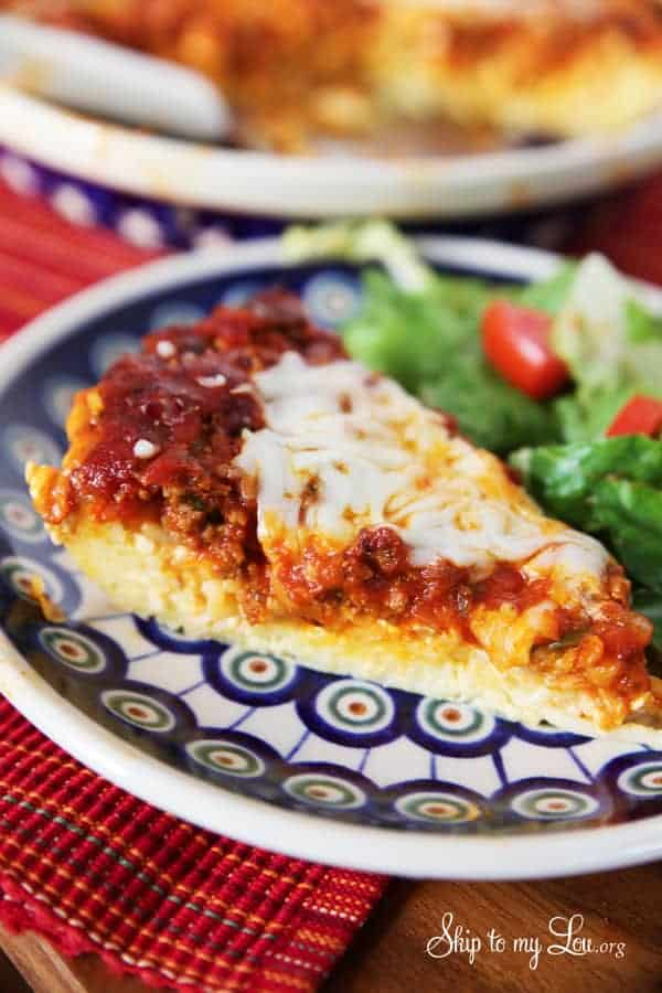 Gluten Free Spaghetti Pie by Skip To My Lou | Gluten Free Breakfast, Dinner, and Dessert Recipes