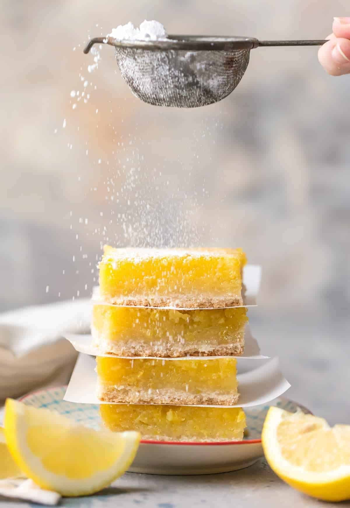 Gluten Free lemon Bars by The Cookie Rookie | Gluten free recipes the whole family will love!