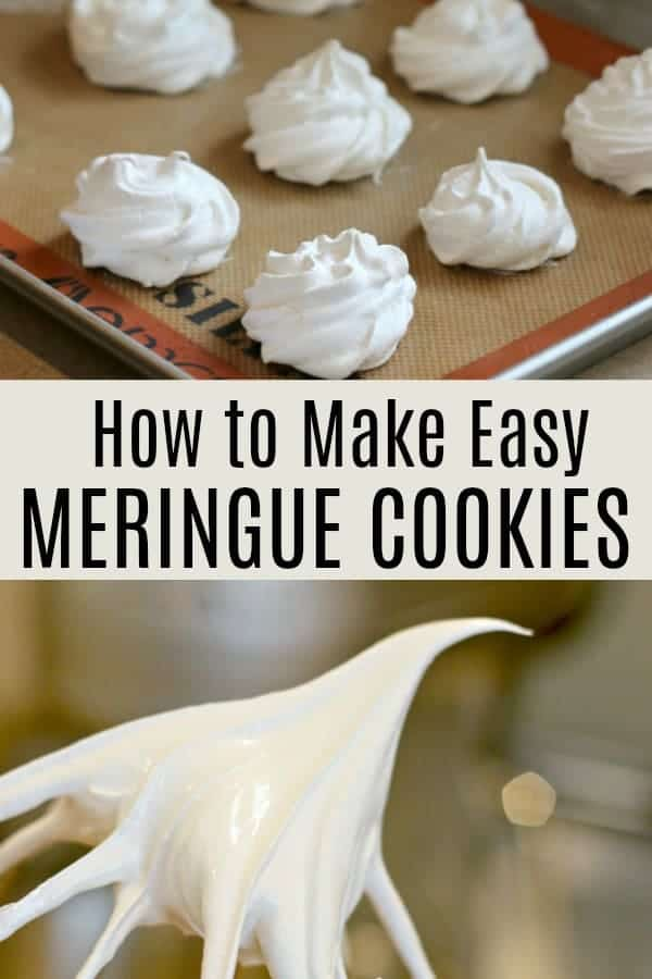 How to make easy meringue cookies