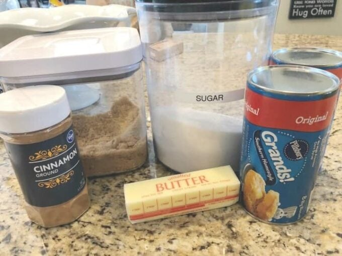 Ingredients needed to make Monkey Bread