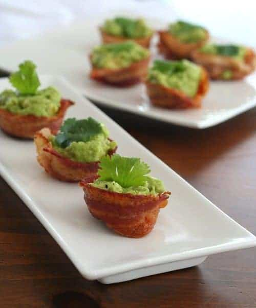 Mini Bacon Guacamole Cups by All Day I Dream About Food | Gluten Free Recipes that You'll Love