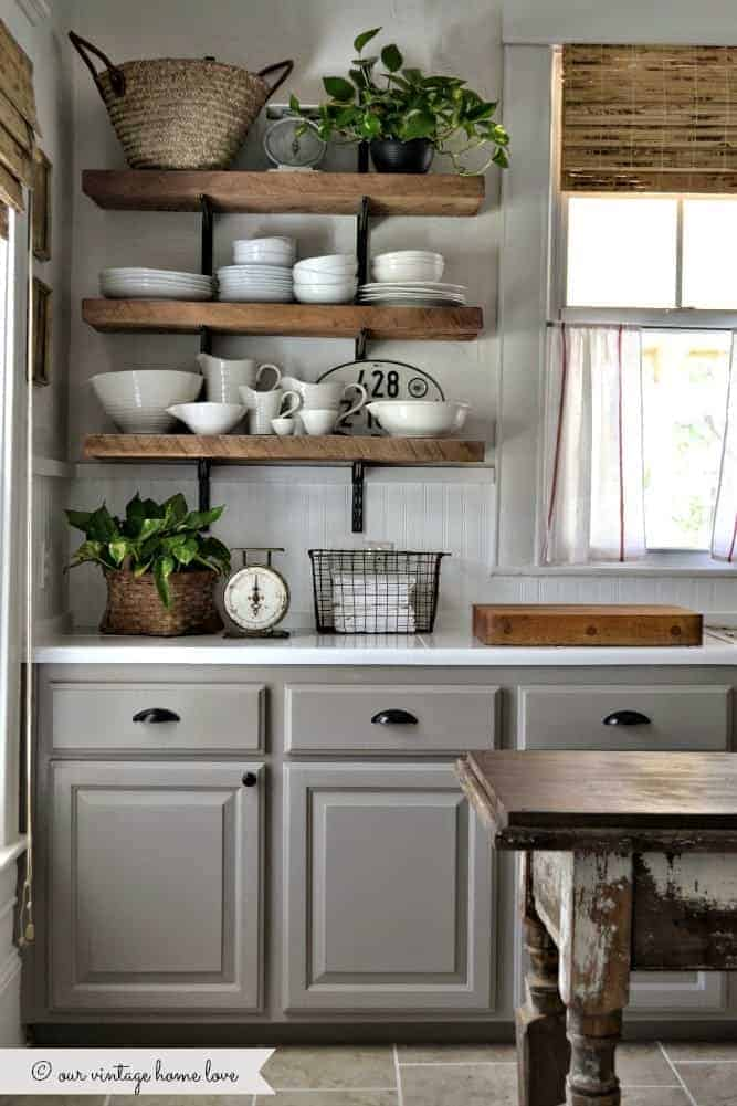 Modern Farmhouse Kitchen Updates from our VIntage Home Love | Dreamy Farmhouse Kitchens and How to get the look