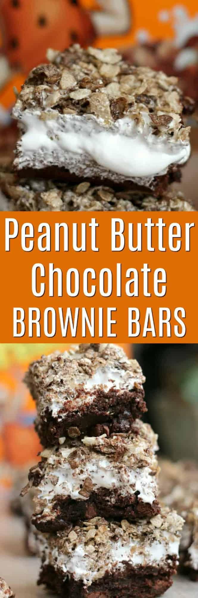 Peanut Butter Chocolate Brownie Bars
