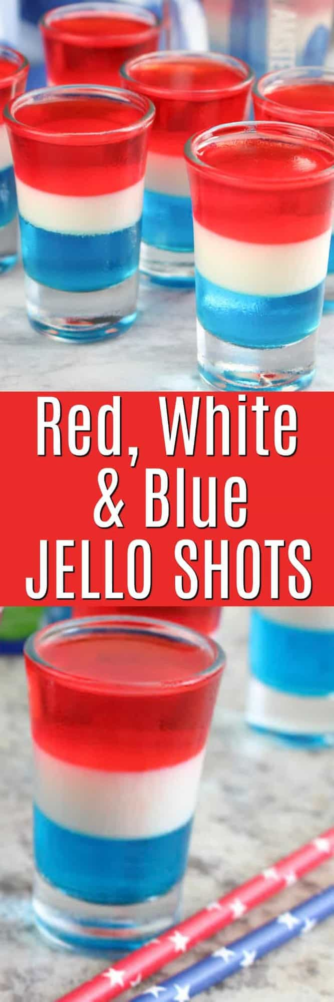 Red White and Blue Layered Jello Shots