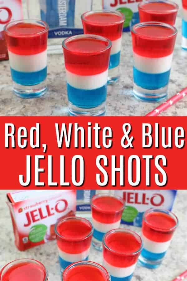 Red white and blue Jello Shots - 4th of July Jello Shots