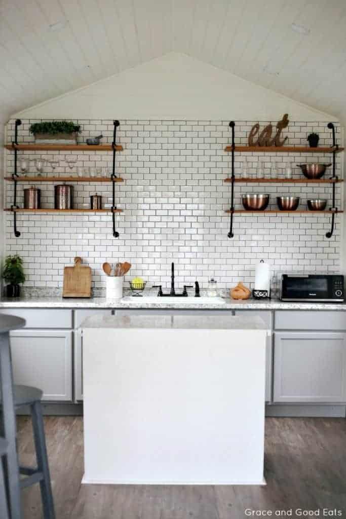 White Farmhouse Kitchen by Grace and Good Eats | Dreamy Modern Farmhouse Kitchens