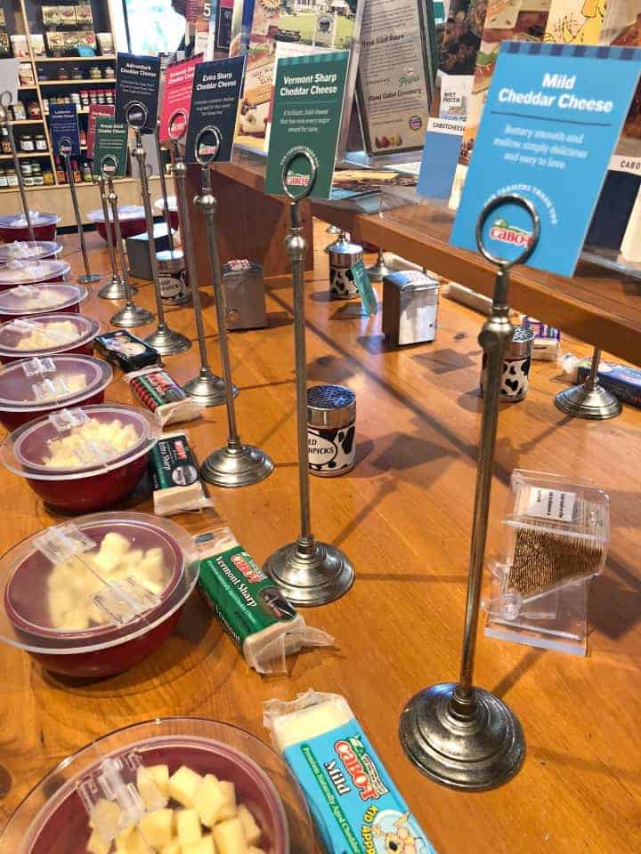 Cabot Cheese Tasting samples at store