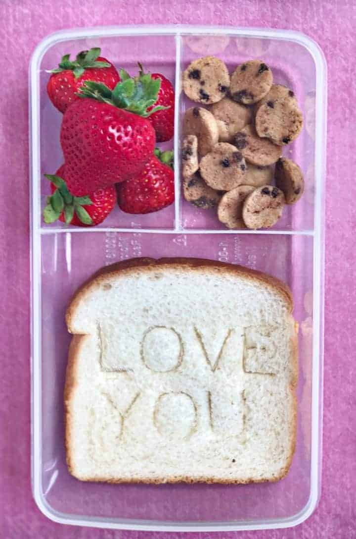 Creative School lunch note sandwich