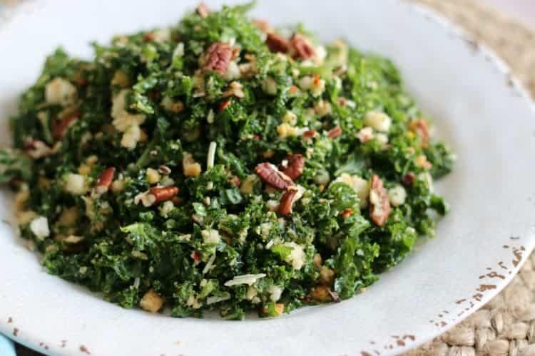 prep the kale salad