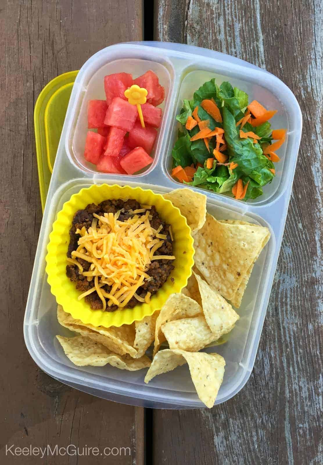 Nachos for the Lunchbox by Keeley McGuire | No Sandwich Lunch Ideas that your kids will thank you for!